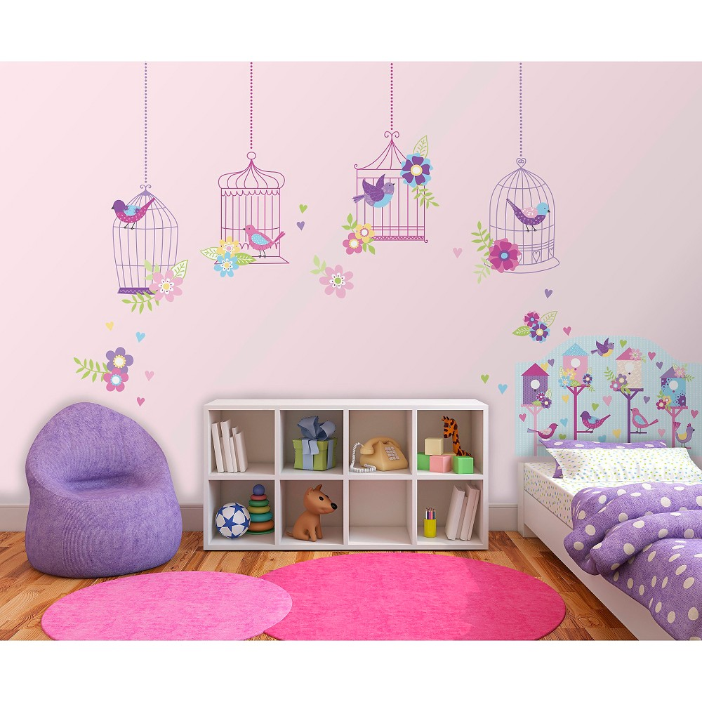 WallPops! Chirping The Day Away Room Décor Kit, Multi-Colored