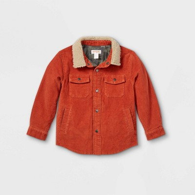 Toddler Boys' Corduroy and Sherpa Long Sleeve Button-Down Shirt - Cat & Jack™ Brown