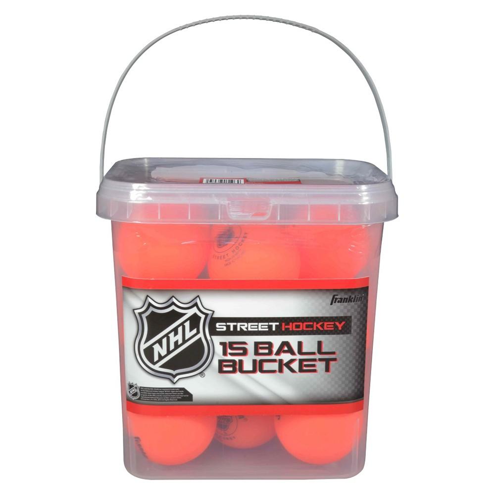 Franklin Sports NHL High Density Balls 15pc Bucket, Multi-Colored