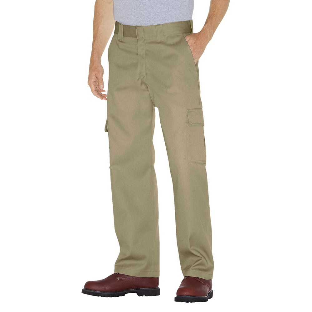 Dickies Men's Relaxed Straight Fit Twill Cargo Work Pants- Desert Sand 34x34