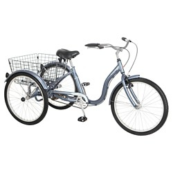 "Schwinn Meridian 3 Wheeled 24"" Retro Cruiser Bike"