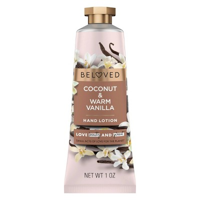 Beloved Coconut & Warm Vanilla Hand Cream Lotion - 1oz