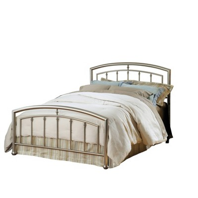 Claudia Bed Set with Rails Silver - Hillsdale Furniture
