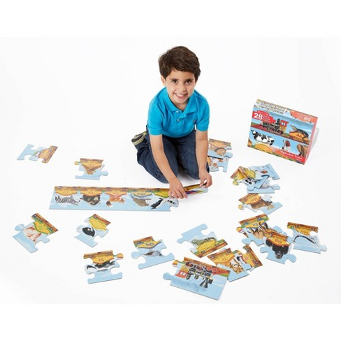 Melissa And Doug Alphabet Train Letters And Animals Jumbo Floor Puzzle 28pc - image 1 of 4