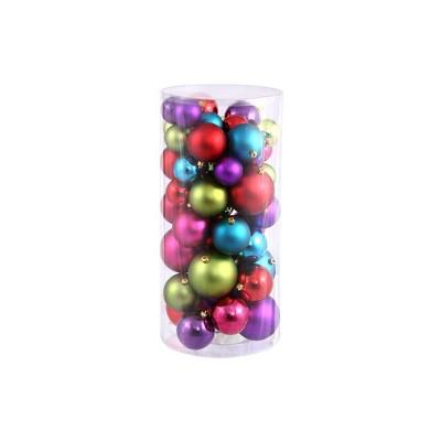 "Northlight 50ct Shatterproof 2-Finish Christmas Ball Ornament Set 4"" - Red/Purple"
