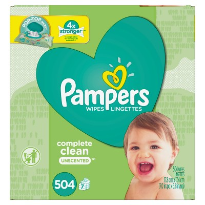 Pampers Wipes Complete Clean, Unscented (504ct)