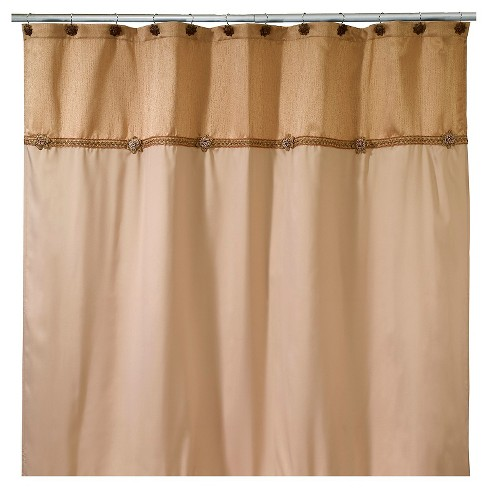 Braided Medallion Shower Curtain Gold - Avanti® - image 1 of 1