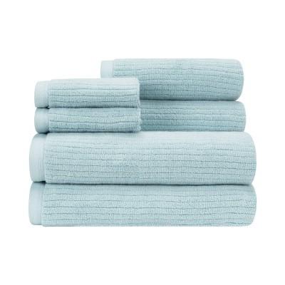 6pc Empire Bath Towel Set Teal - CARO HOME