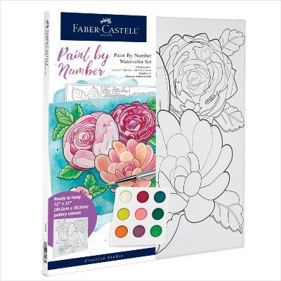 Faber-Castell Paint by Number Watercolor Set - Bold Floral