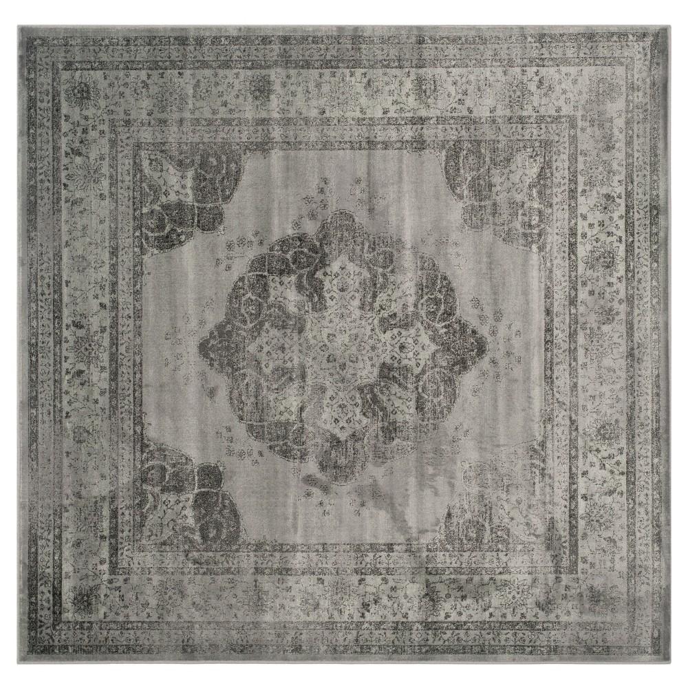 Luca Vintage Area Rug - Gray / Multi ( 6' X 6' ) - Safavieh