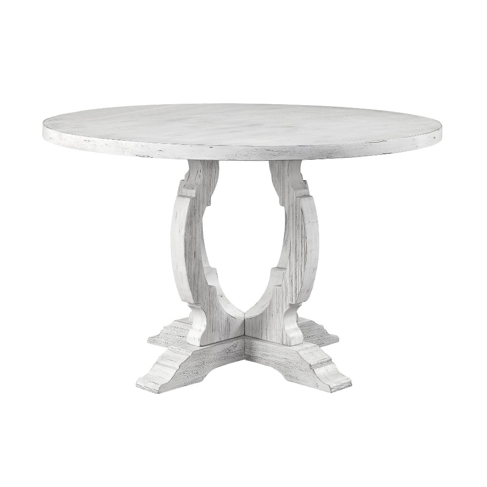 "Image of ""48"""" Orchard Park Round Dining Table White - Treasure Trove"""