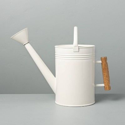 Steel Watering Can with Wood Handle Sour Cream - Hearth & Hand™ with Magnolia