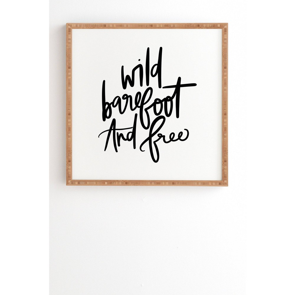 "Image of ""12"""" x 12"""" Chelcey Tate 'Wild Barefoot And Free' Framed Wall Art Black - Deny Designs, Size: 12"""" x 12"""""""