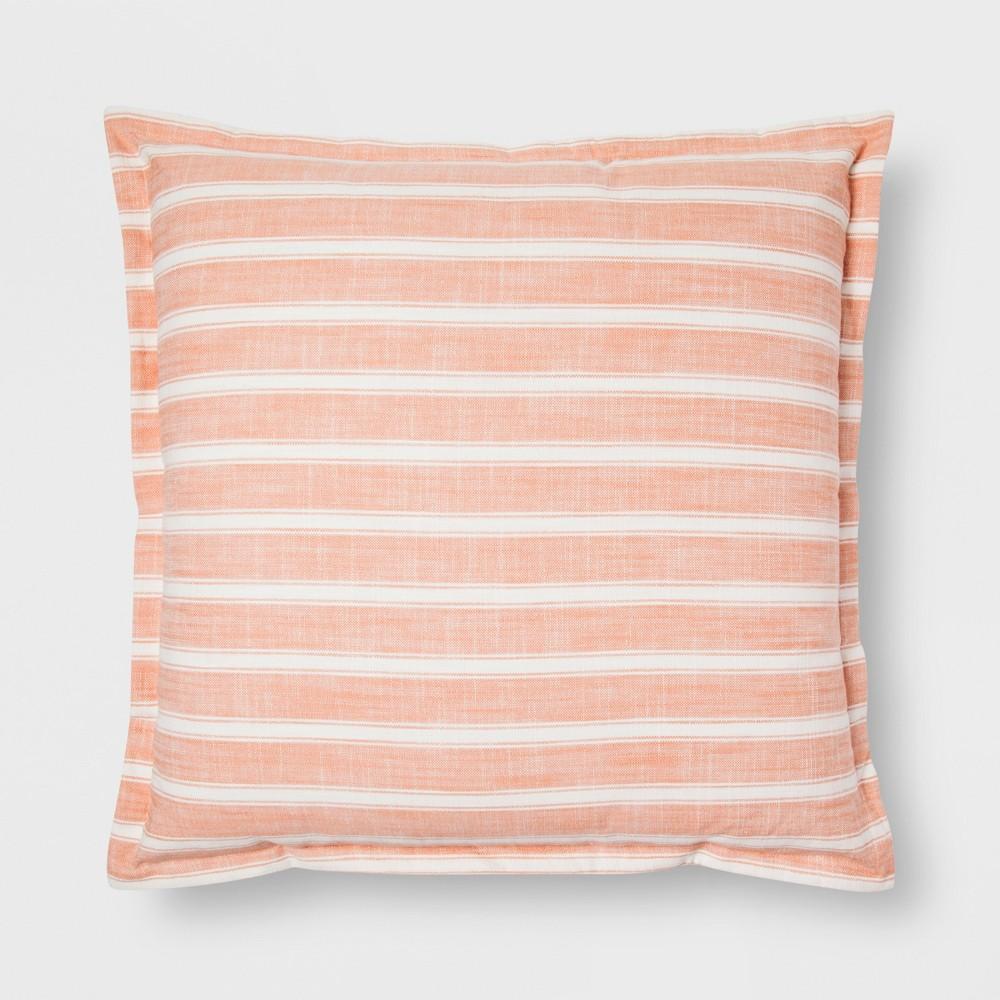 Orange Stripe Oversize Throw Pillow - Threshold