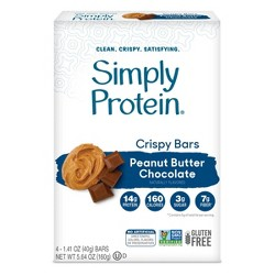 SimplyProtein Crispy Bars - Peanut Butter Chocolate - 4ct