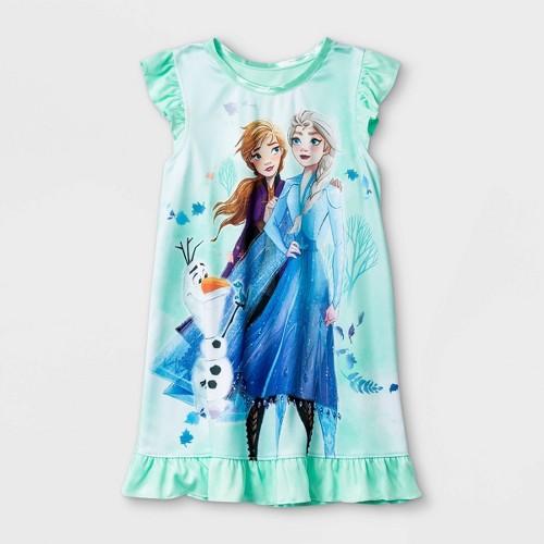 Toddler Girls Frozen Nightgown Green 3T