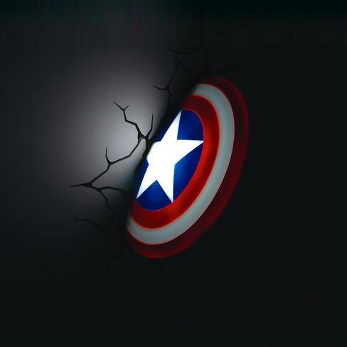 Marvel 3d wall night led light captain america target aloadofball Images