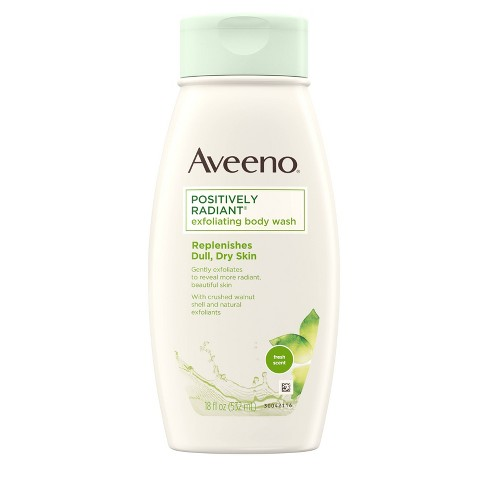 Aveeno Positively Radiant Soap Free Exfoliating Body Wash - 18 fl oz - image 1 of 4