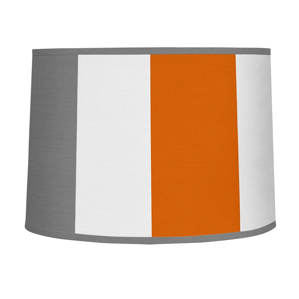 Gray & Orange Stripe Lampshade - Sweet Jojo Designs