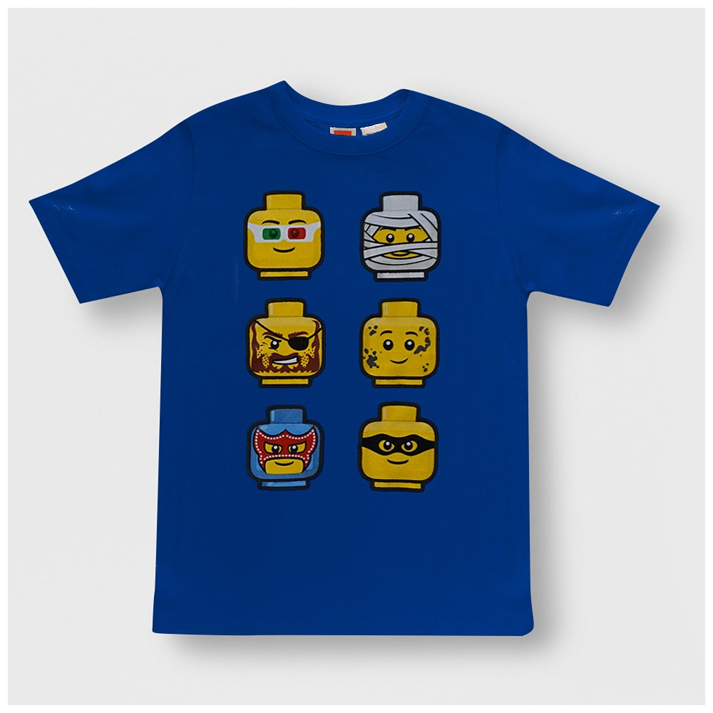 Boys' Lego Faces Short Sleeve Graphic T-Shirt - Blue S