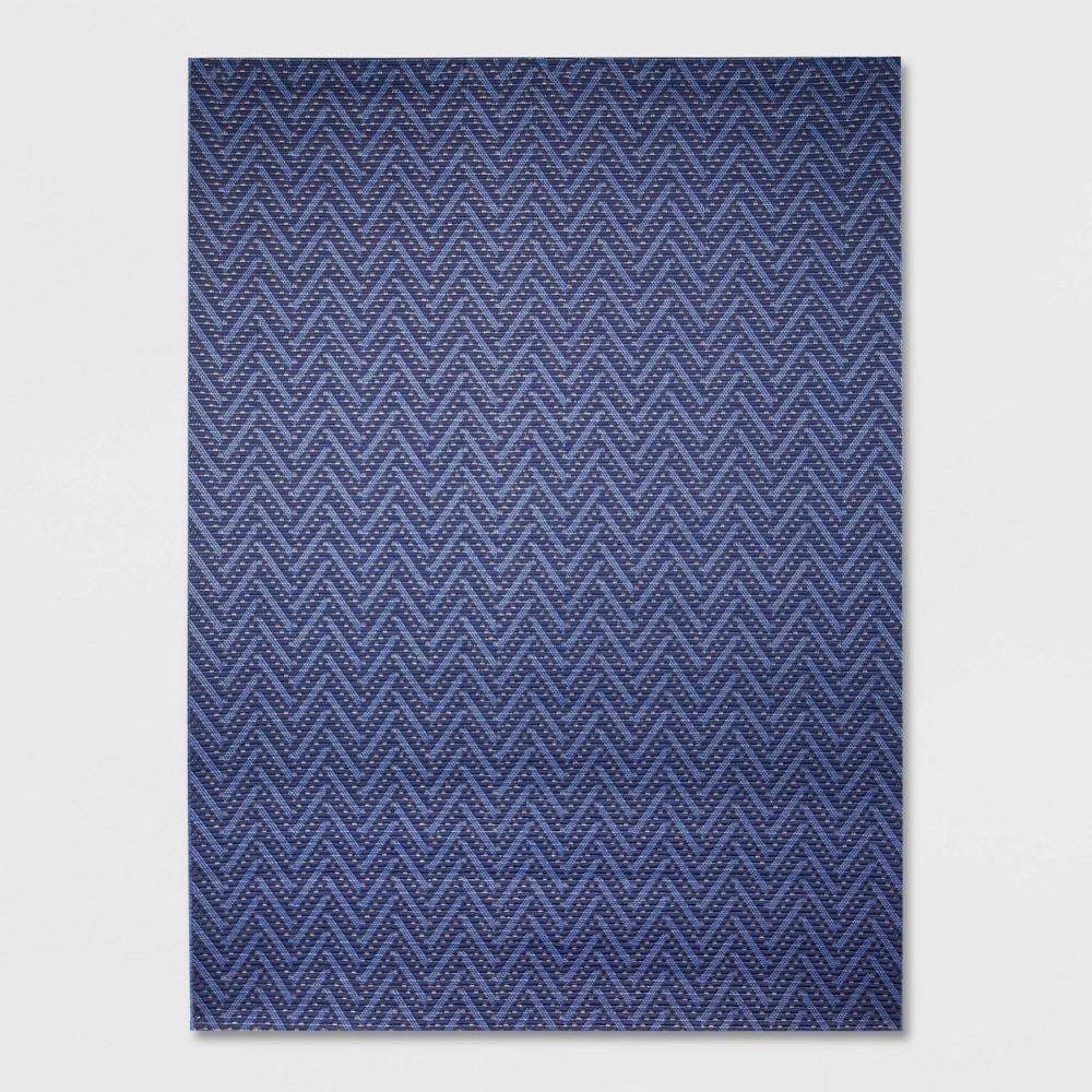 9' x 12' Chevron Outdoor Rug Navy (Blue) - Smith & Hawken
