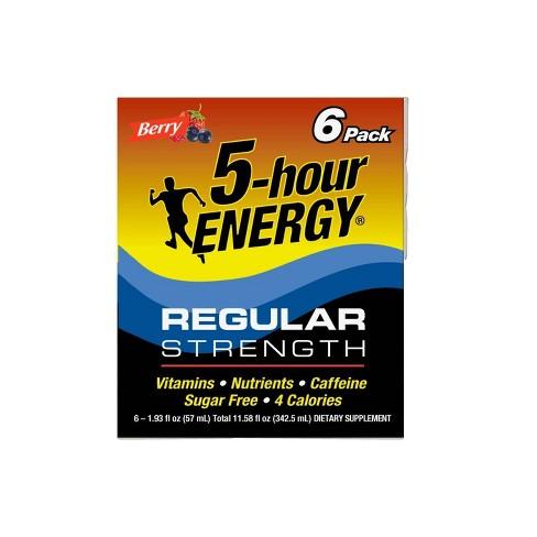 5 Hour Energy Shot - Berry - 6pk