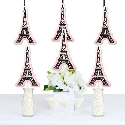 Big Dot of Happiness Paris, Ooh La La - Eiffel Tower Decorations DIY Paris Themed Baby Shower or Birthday Party Essentials - Set of 20