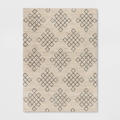 Diamond Geo Shag Rug Ivory - Project 62™
