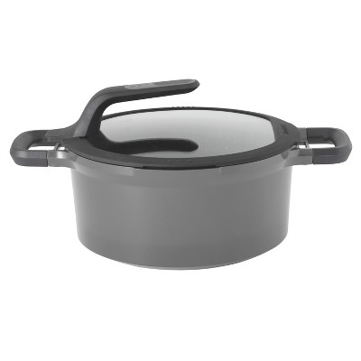 "BergHOFF GEM 10"" Stay-Cool Covered Stockpot, Grey"