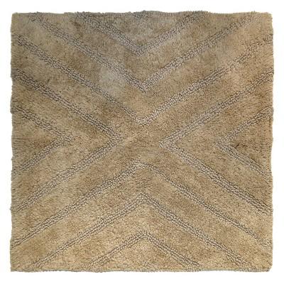 Textured Stripe Square Bath Rug Khaki Tan - Project 62™ + Nate Berkus™