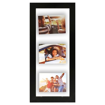 Float Frame Black 10x26 Glass for 3 - 5x7 Photos - Room Essentials™