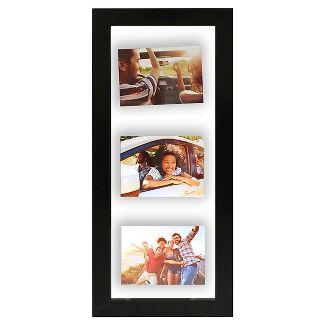 Float Frame Black 10x26 Glass for 3 - 5x7 Photos - Room Essentials™