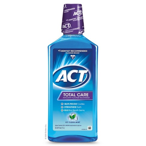 Act Total Care Anticavity Fluoride Mouthwash Icy Clean Mint 33 8 Fl Oz Target