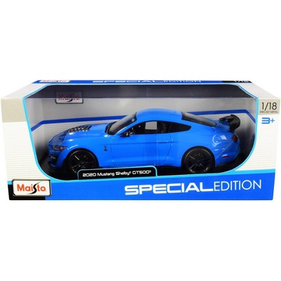 """2020 Ford Mustang Shelby GT500 Light Blue """"Special Edition"""" 1/18 Diecast Model Car by Maisto"""