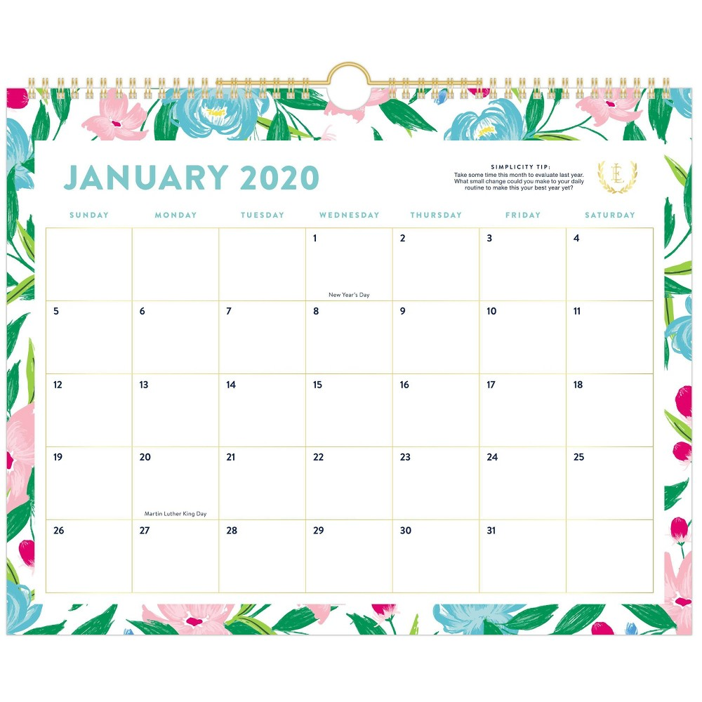 Image of 2020 Wall Calendar Floral - Emily Ley