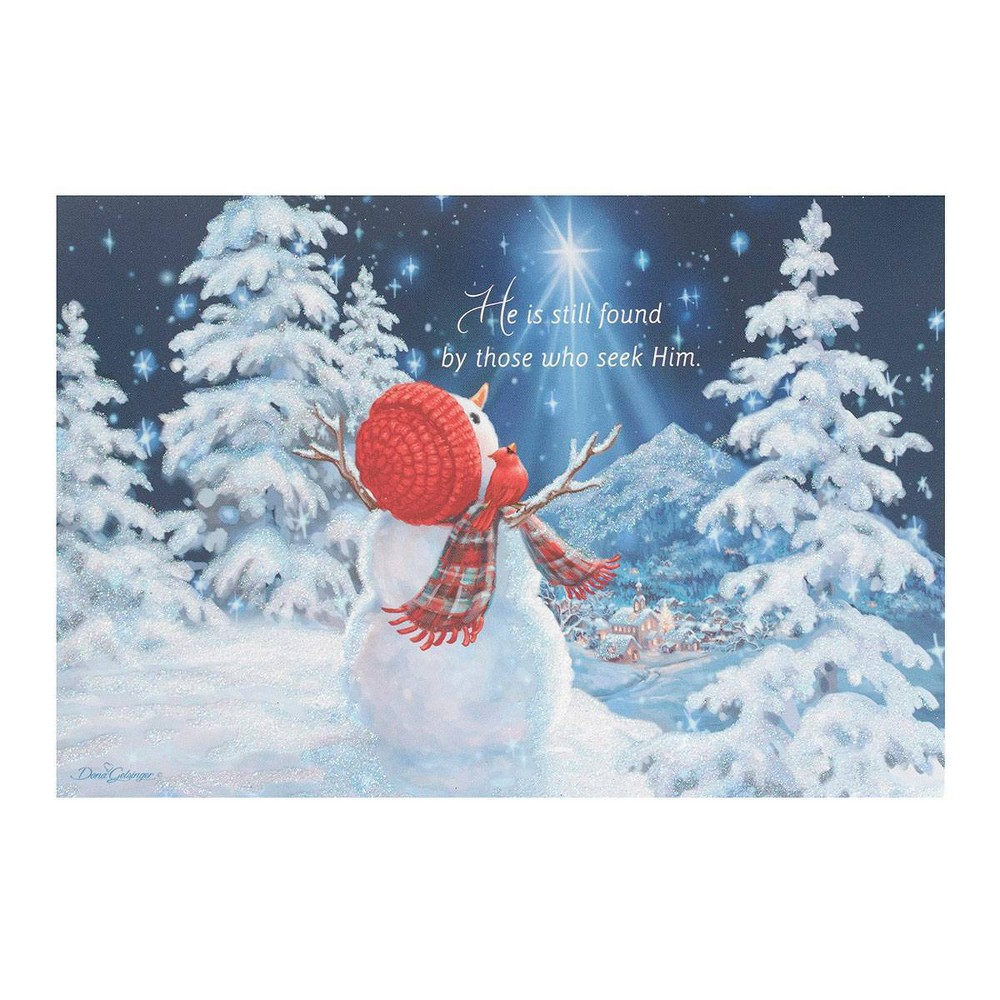 Image of 14ct Dona Gelsinger Snowman Greeting Cards - Dayspring