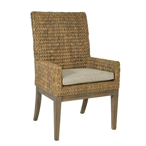 Ranier Water Hyacinth Dining Chair Gray - East At Main - image 1 of 2