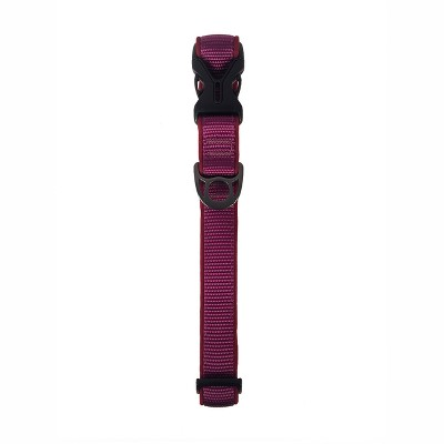 HTR Solid Comfort Dog Collar - Plum - Large - Boots & Barkley™
