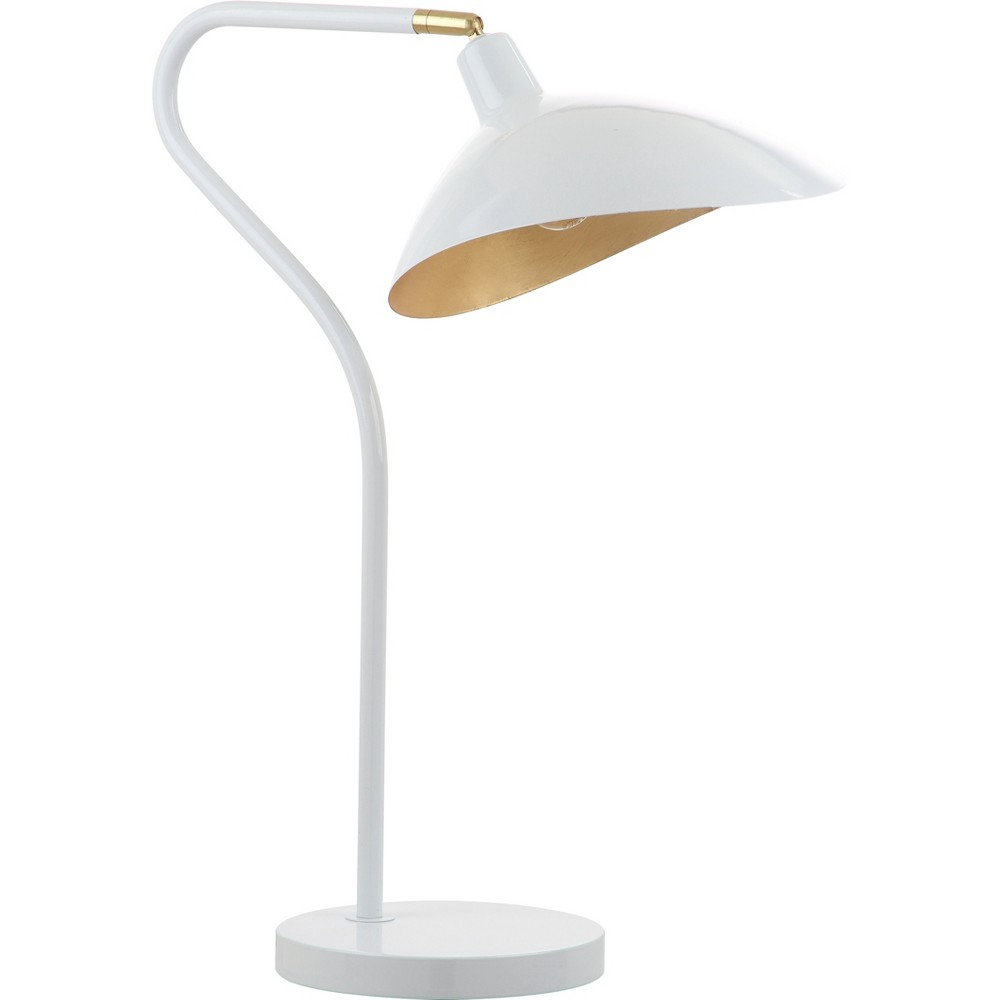 Image of Giselle 30Inch H Adjustable Table Lamp White (Includes Energy Efficient Light Bulb) - Safavieh
