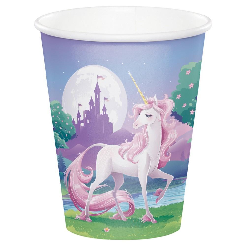 8ct Unicorn Fantasy Cups, Disposable Drinkware