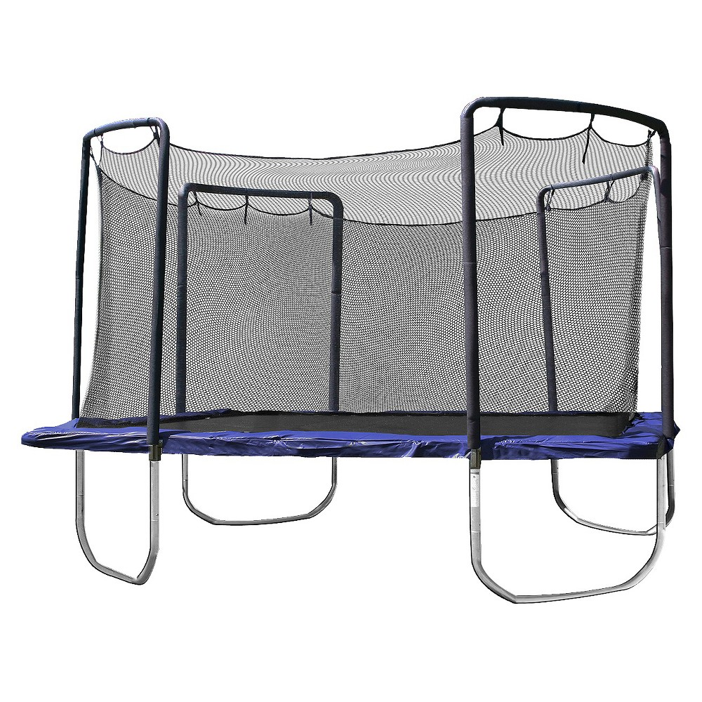 Skywalker Trampolines 15' Square Trampoline with Enclosure - Blue, Clear