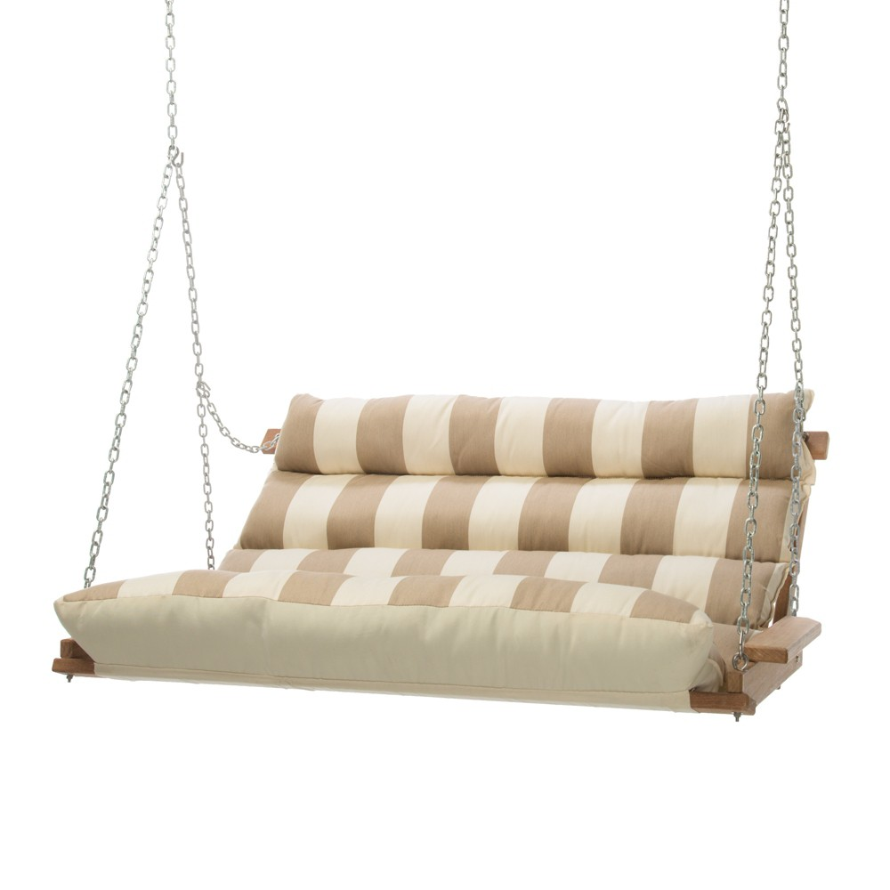 Image of Double Swing - Beige Stripe - Hatteras Hammocks