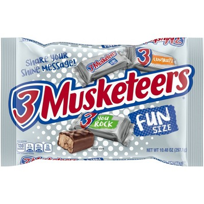 3 Musketeers Halloween Chocolate Fun Size - 10.48oz