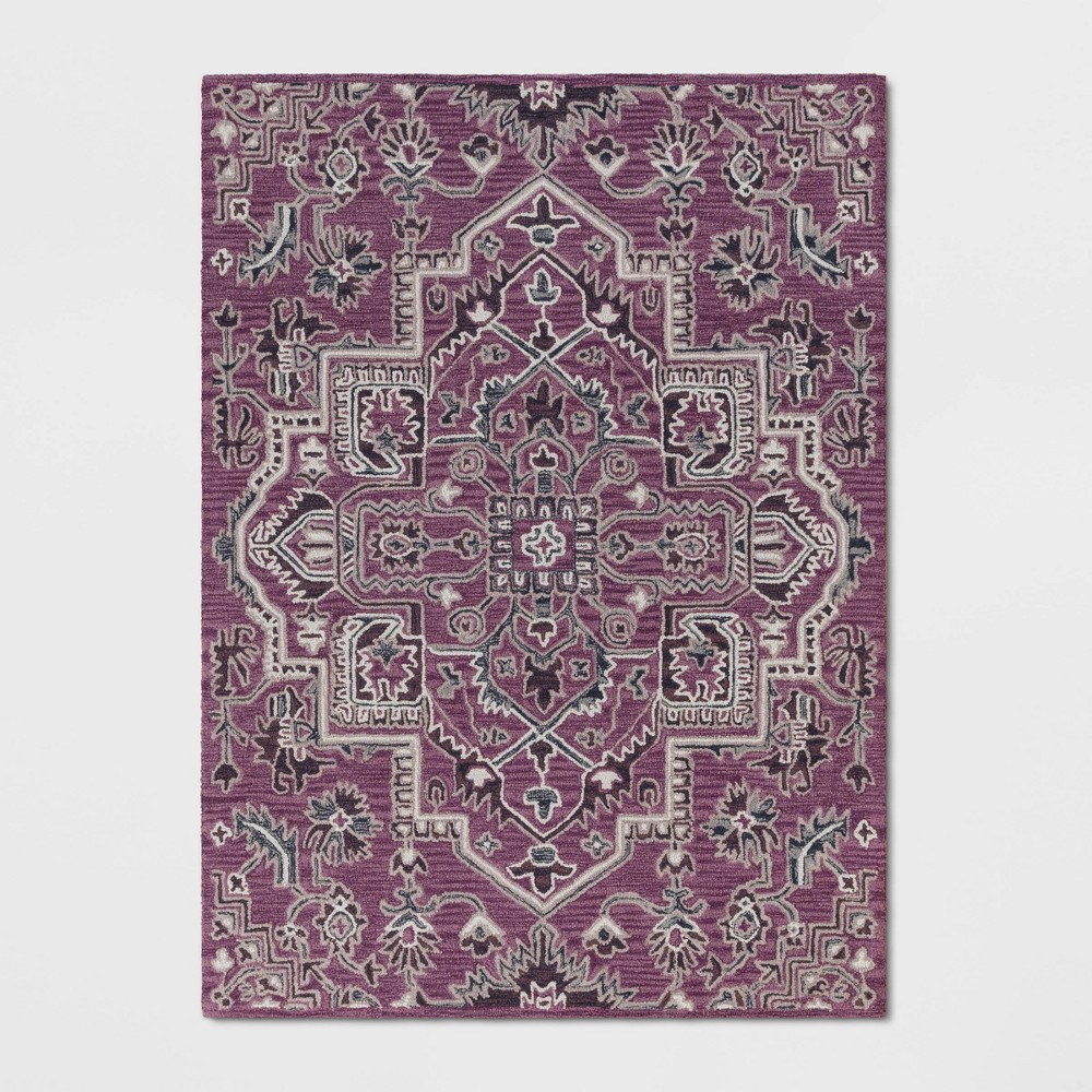5'X7' Hyssop Jacquard Tufted Area Rug Purple - Opalhouse was $179.99 now $89.99 (50.0% off)