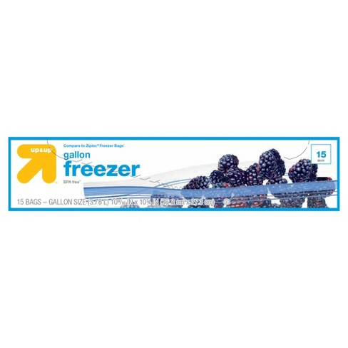 Double Zipper Gallon Freezer Bags - 15ct - Up&Up™ - image 1 of 1