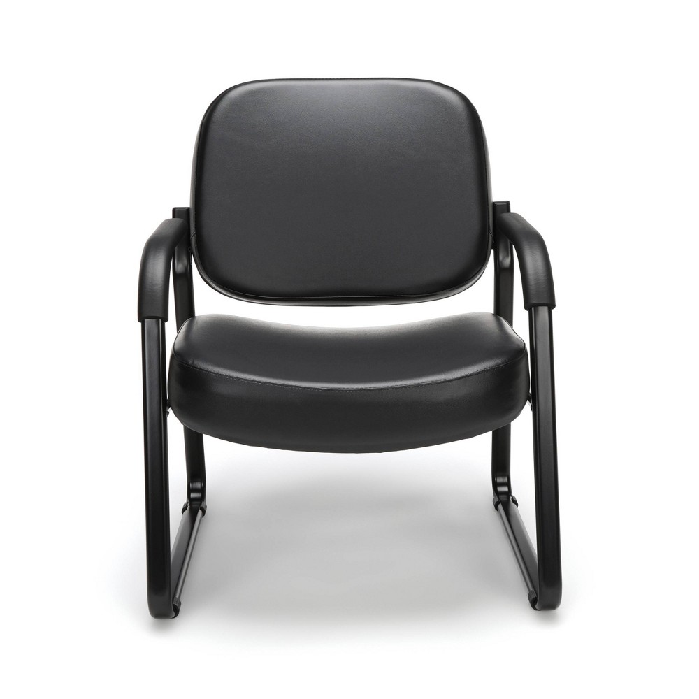 Big & Tall Guest and Reception Chair with Arms Black - Ofm