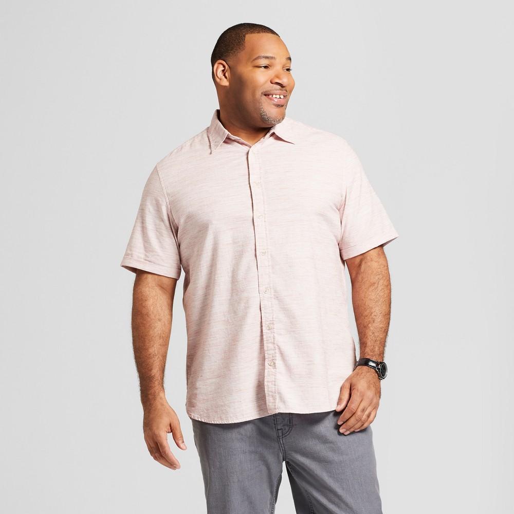 Men's Tall Short Sleeve Cotton Novelty Button-Down Shirt - Goodfellow & Co Safari Rose Xlt