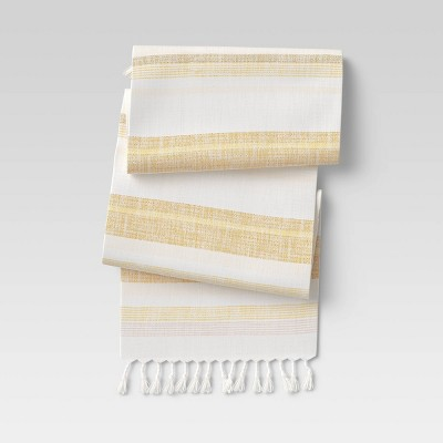 "72"" x 14"" Cotton Striped Table Runner - Threshold™"
