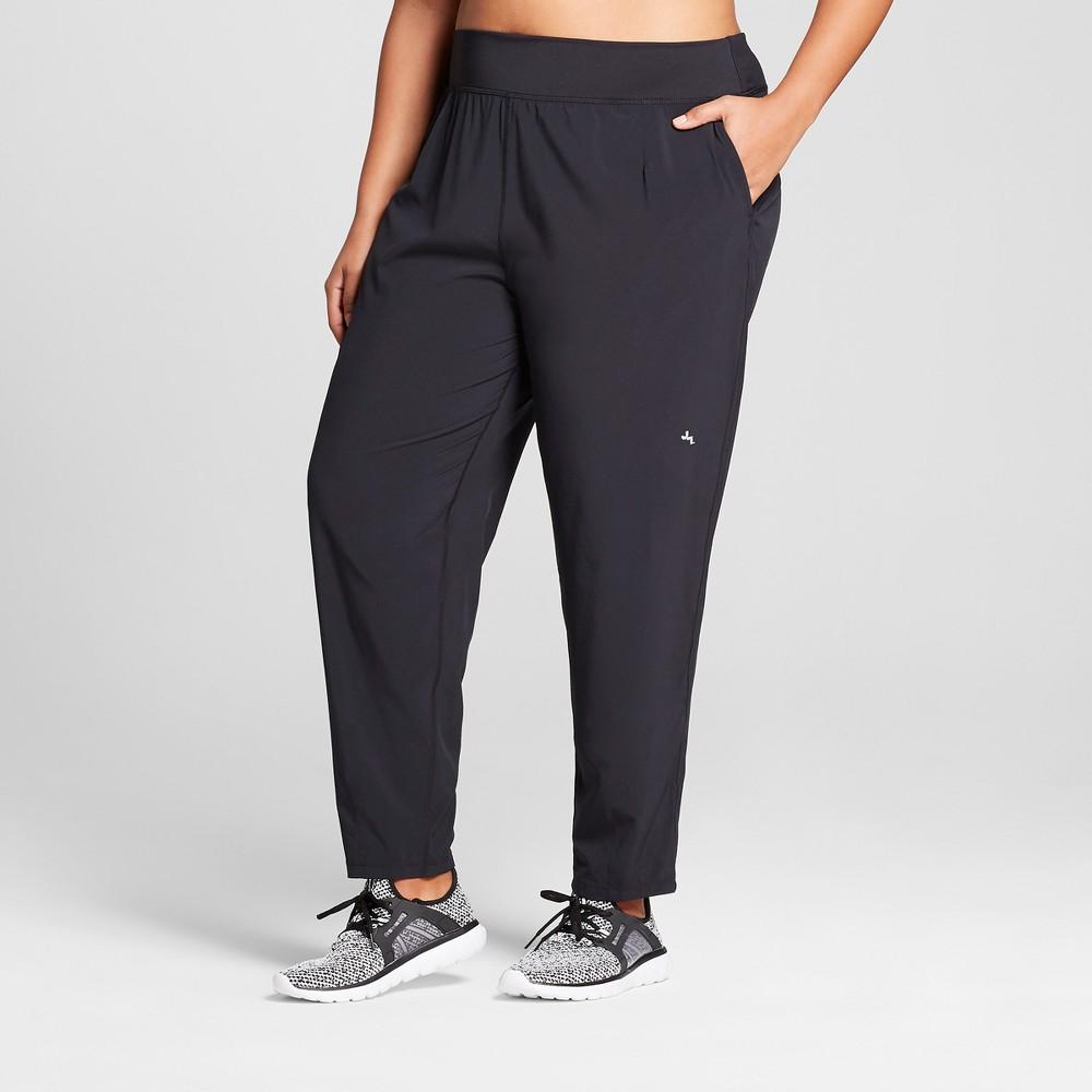 Plus Size Women's Plus Stretch Woven Mid-Rise Jogger Pants - JoyLab Black 2X