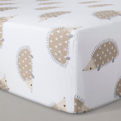Fitted Crib Sheet Hedgehogs - Cloud Island™ - Brown
